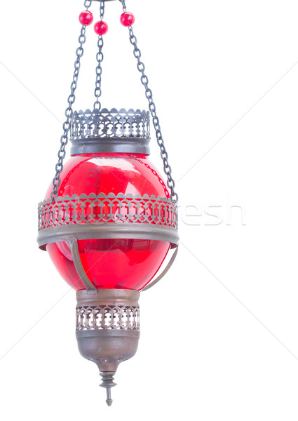 red oriental lamp Stock photo © neirfy