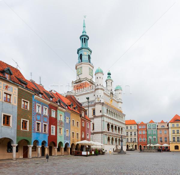 Сток-фото: старые · рынке · квадратный · Польша · город · зале