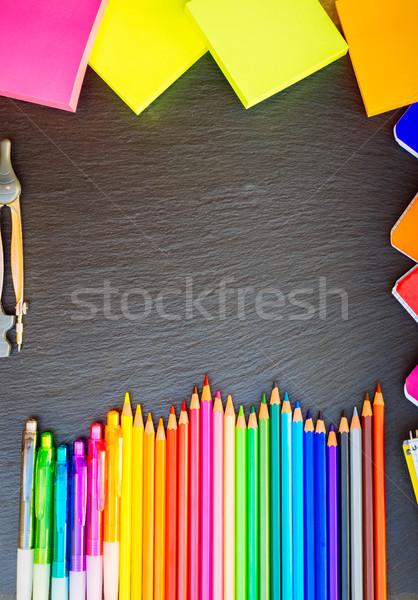 鉛筆 ノート コピースペース 先頭 ストックフォト © neirfy