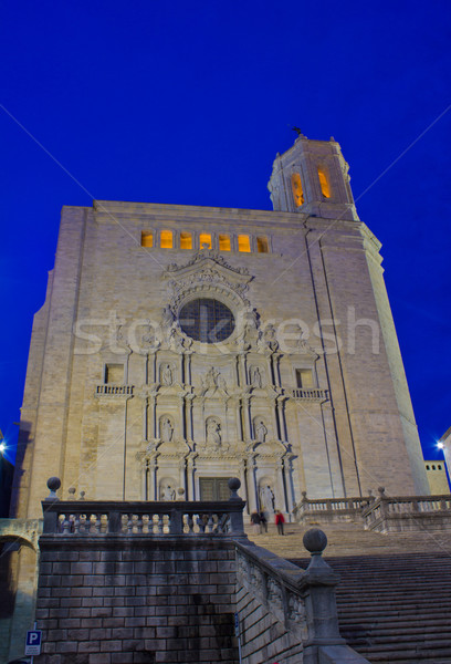 cathedral de Santa Maria, Girona, Spain Stock photo © neirfy