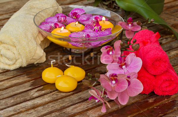 Stock photo: spa setting with candles