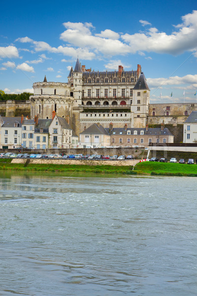 Amboise castle over river, France Stock photo © neirfy