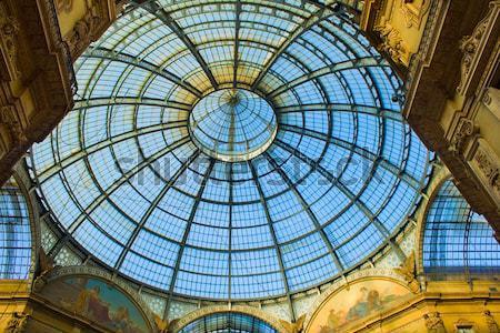 Milaan Italië glas koepel bouw mode Stockfoto © neirfy