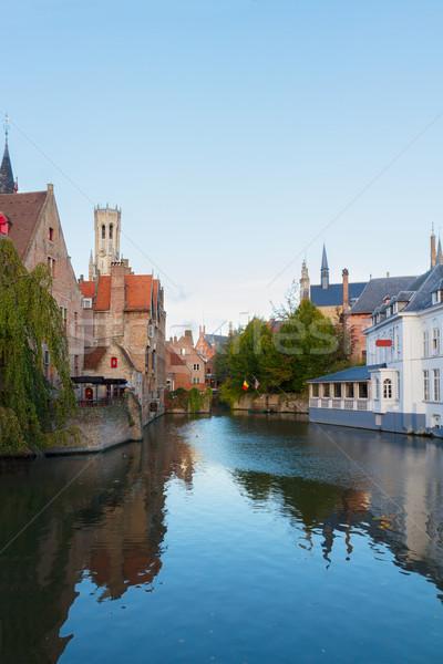 мнение средневековых классический башни Бельгия дома Сток-фото © neirfy