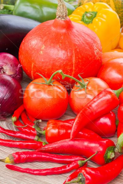 Maduro verduras frescas calabaza tomates pimientos alimentos Foto stock © neirfy