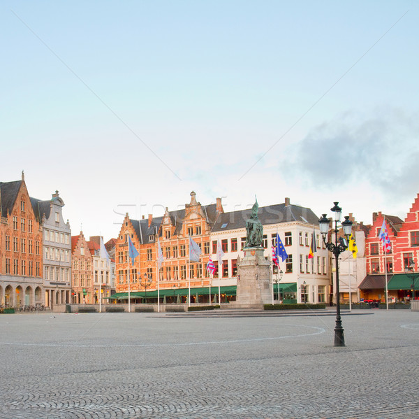 Market Square, Bruges Stock photo © neirfy