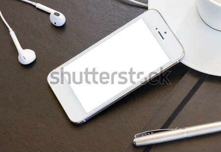 mock up with modern smartphone Stock photo © neirfy