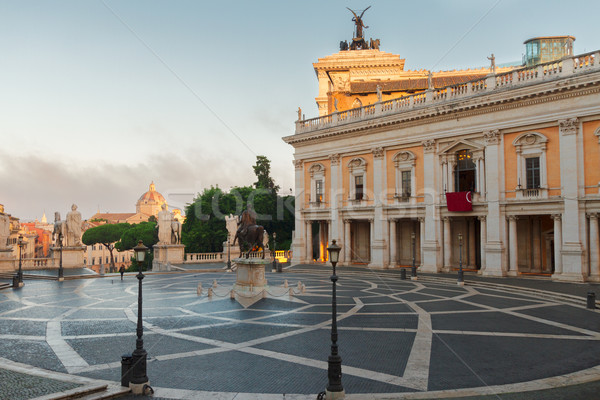 Campidoglio square in Rome, Italy Stock photo © neirfy