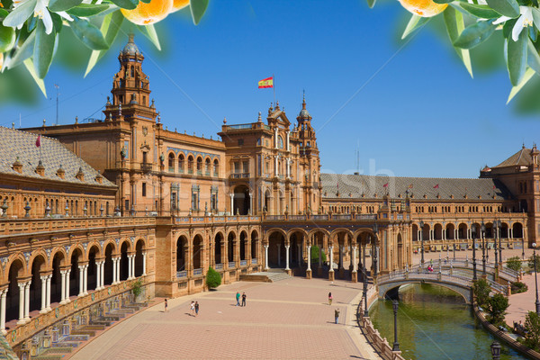 famouse square of Spain in Seville Stock photo © neirfy