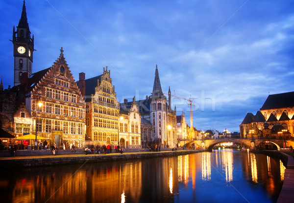 Old Buildings With Canal, Ghent Stock photo © neirfy