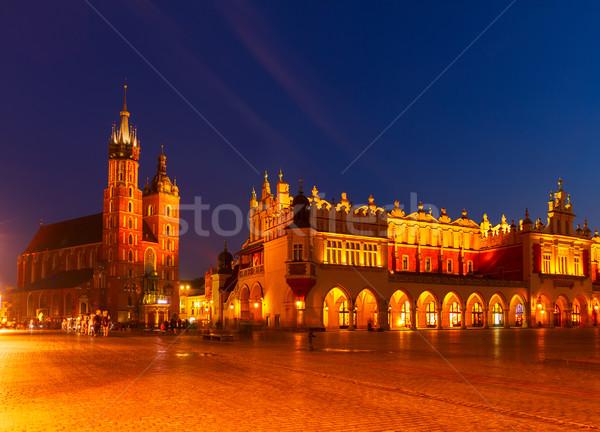 市場 広場 クラクフ 大聖堂 1泊 空 ストックフォト © neirfy