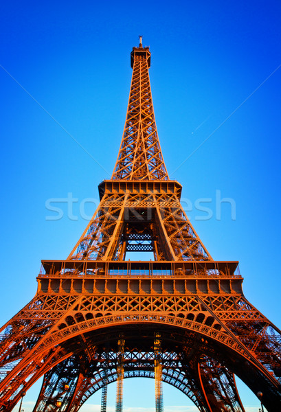 Eiffel torre ferro pôr do sol luz retro Foto stock © neirfy