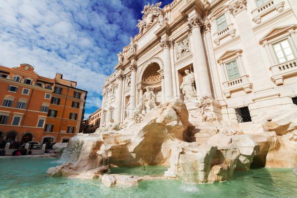 Сток-фото: фонтан · мнение · день · небе · воды · солнце