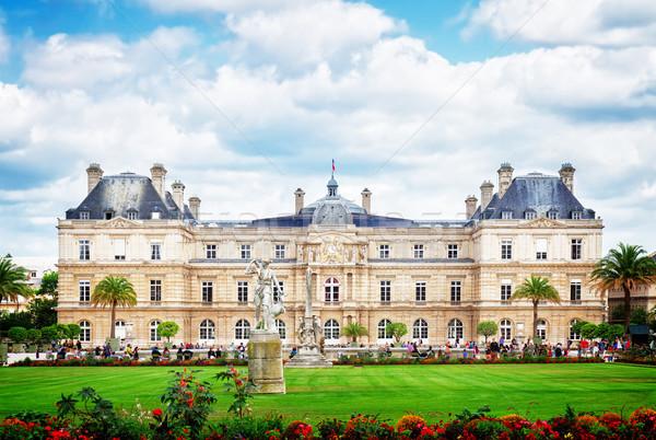 Luxemburg kert Párizs zöld gyep nyár Stock fotó © neirfy