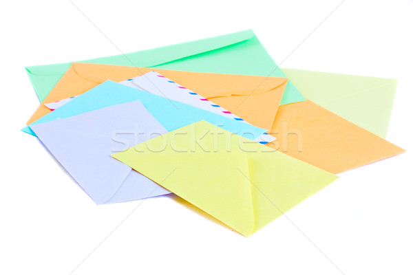 E-mail colorido isolado branco negócio Foto stock © neirfy