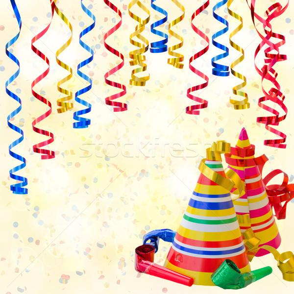 Születésnapi buli folyam papír sapkák buli terv Stock fotó © neirfy
