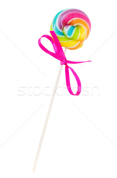small spiral lolly pop candy Stock photo © neirfy