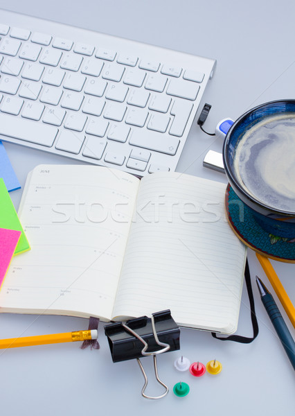 open blank note book on working table Stock photo © neirfy