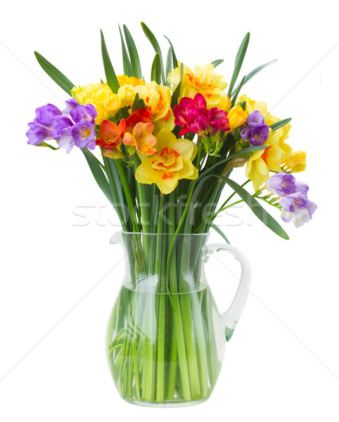 スイセン 花 花瓶 孤立した 白 ストックフォト © neirfy