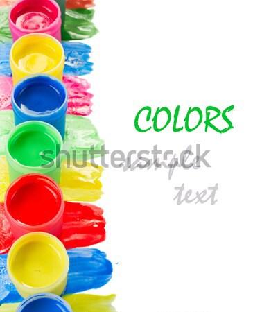 wet paints Stock photo © neirfy