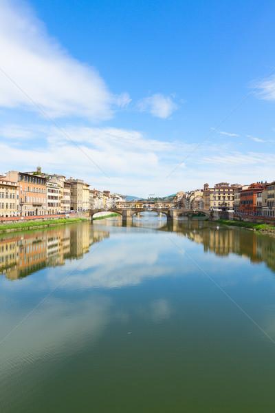 Floransa İtalya köprü yaz gün su Stok fotoğraf © neirfy