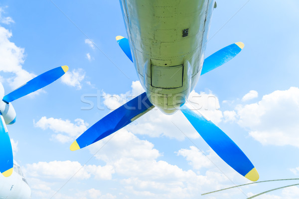 Vintage airplane propeller Stock photo © neirfy