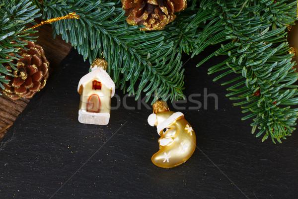 Evergreen albero palla decorazioni felice Foto d'archivio © neirfy