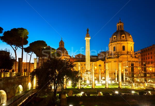 форуме римской руин Рим Италия колонки Сток-фото © neirfy
