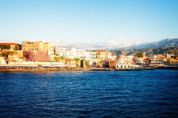 ベニスの ギリシャ 水辺 レトロな ストックフォト © neirfy
