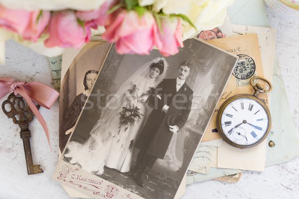 old family album Stock photo © neirfy