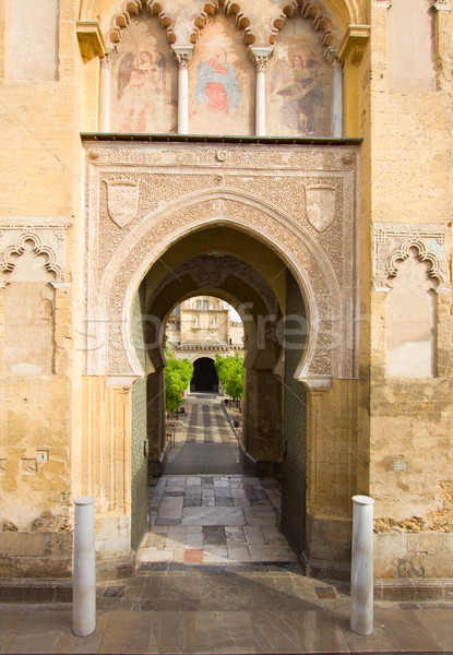 Main access to Cathedral Mosque Patio in Cordoba Stock photo © neirfy