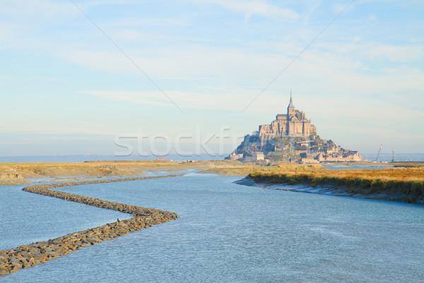 Mont Saint Michel over sea , France Stock photo © neirfy