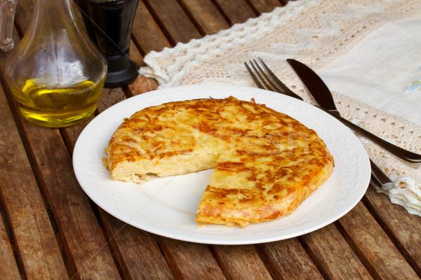 tortilla  - spanish omelette Stock photo © neirfy