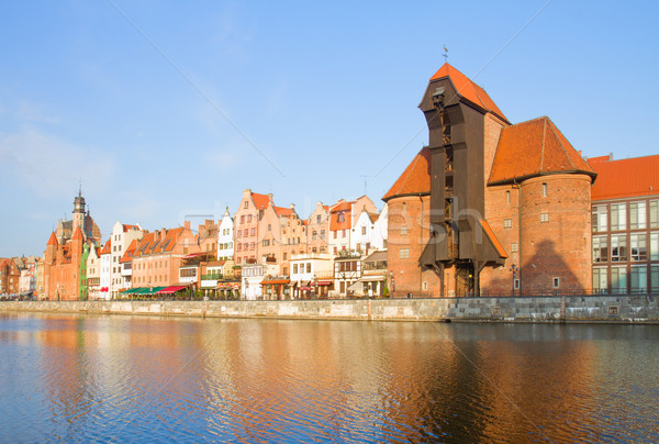 Zuraw and old embankment, Gdansk Stock photo © neirfy