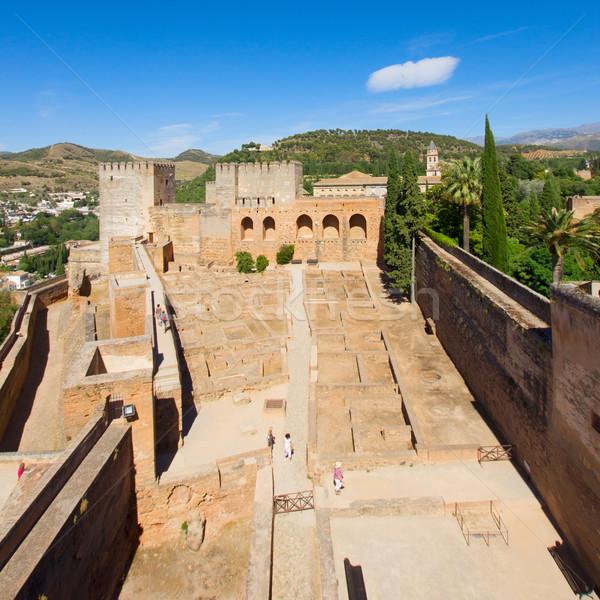 アルハンブラ宮殿 スペイン アンダルシア 空 ツリー ストックフォト © neirfy
