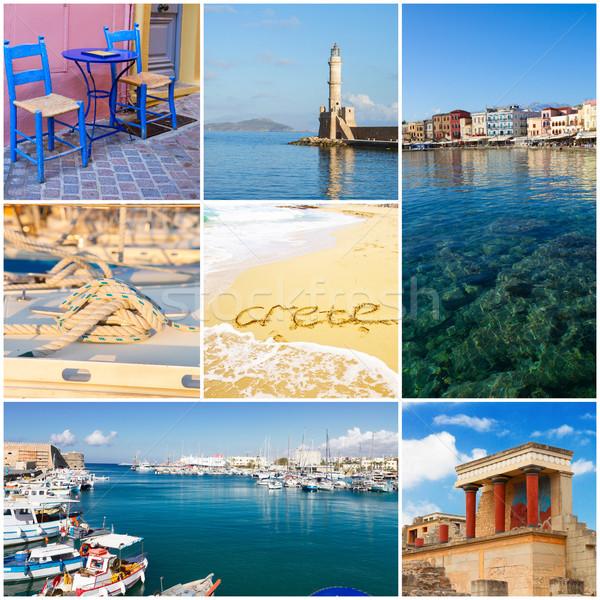Crete collage, Greece Stock photo © neirfy