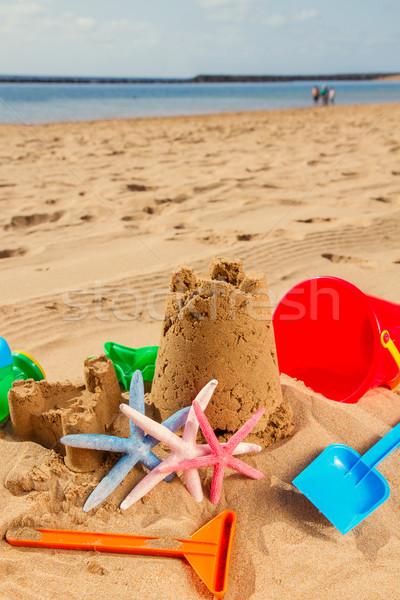 sand castle on the beach  Stock photo © neirfy
