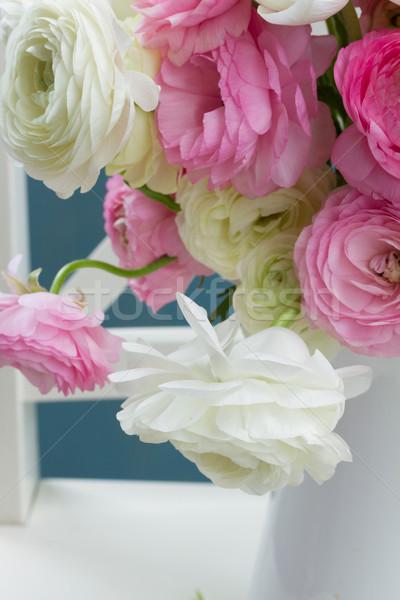 ピンク 白 花 花束 花瓶 ストックフォト © neirfy