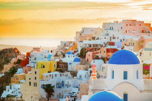 Oia, traditional greek village Stock photo © neirfy
