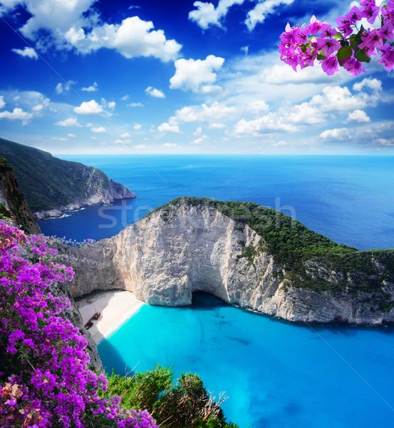 Beautiful lanscape of Zakinthos island Stock photo © neirfy