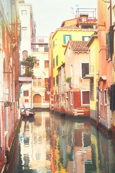 ヴェネツィア 家 イタリア 運河 反射 住宅 ストックフォト © neirfy