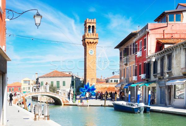 Cidade velha Itália ilha casas canal Veneza Foto stock © neirfy
