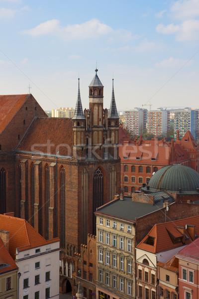 st Mary church, Torun, Poland Stock photo © neirfy