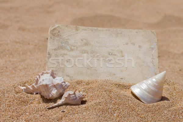 old photo on a beach Stock photo © neirfy