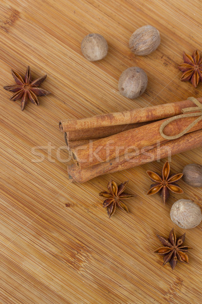 cinnamon , nutmeg and anise Stock photo © neirfy