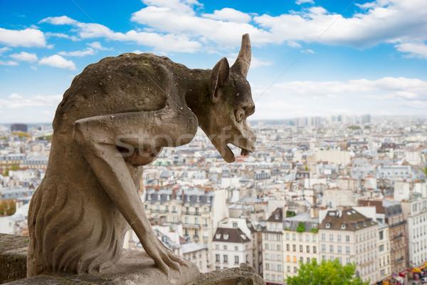 Gargoyle on Notre Dame Cathedral, France Stock photo © neirfy