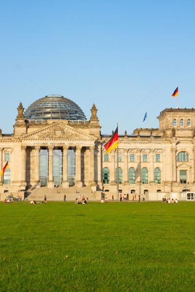 épület kormány Berlin Németország homlokzat nap Stock fotó © neirfy