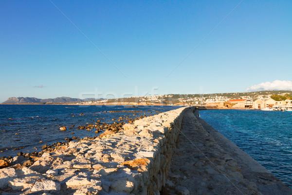pier and coast fo Chania Crete, Greece Stock photo © neirfy