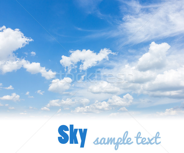 Storm hemel wolken blauwe hemel witte exemplaar ruimte Stockfoto © neirfy