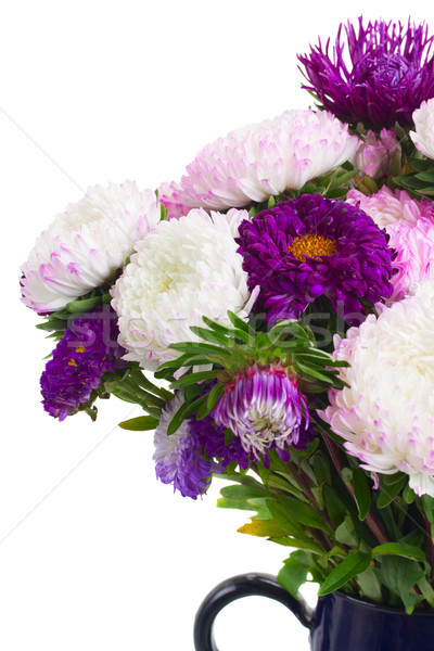花 紫色 花束 ガラス 花瓶 ストックフォト © neirfy
